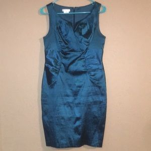 Bluish Green London Times Size 8P Midi Dress